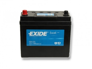 Autobaterie EXIDE Excell 45Ah, 12V, EB455